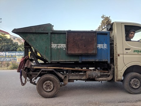 A Garbage Lorry in Jaipur